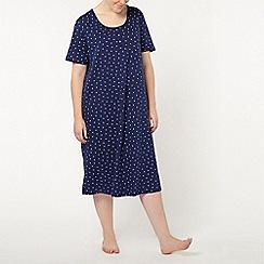 Evans - Blue star midi night dress