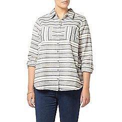 Evans - Navy and white striped shirt