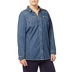 Evans - Dark blue denim shirt