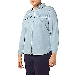 Evans - Light blue denim shirt