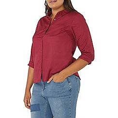 Evans - Red twill shirt