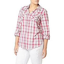 Evans - Pink check shirt
