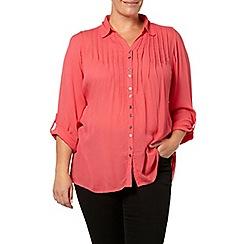 Evans - Pink crinkle shirt