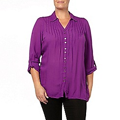 Evans - Purple crinkle shirt