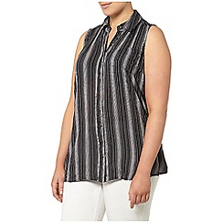 Evans - Black and ivory striped shirt