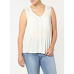 Evans - Ivory lace insert top