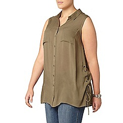 Evans - Green sleeveless shirt