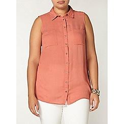 Evans - Orange busty fit shirt