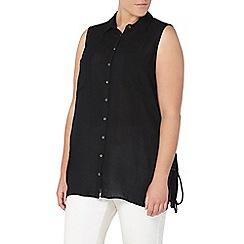 Evans - Black sleeveless shirt
