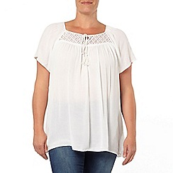 Evans - White tassel gypsy top