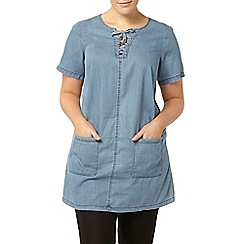 Evans - Blue denim look tunic