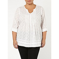 Evans - White dobby shirt