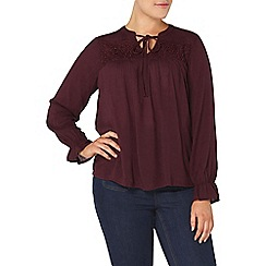 Evans - Purple lace insert top