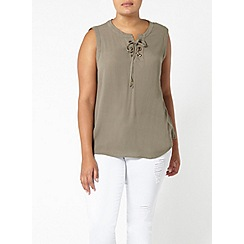 Evans - Khaki green sleeveless top