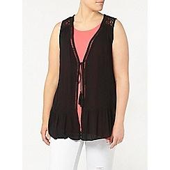 Evans - Black sleeveless cover up