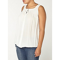 Evans - Ivory sleeveless top