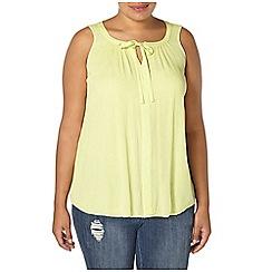 Evans - Yellow sleeveless top