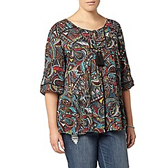 Evans - Multicoloured abstract print top