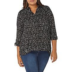 Evans - Black printed shirt