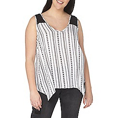 Evans - sleeveless abstract print top