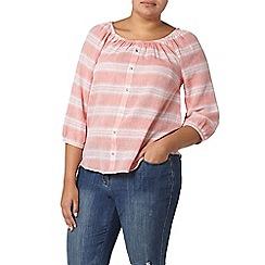 Evans - Orange striped gypsy top
