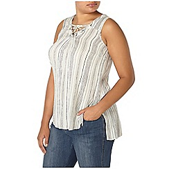 Evans - Ivory striped top