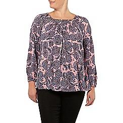 Evans - Pink paisley print gypsy top