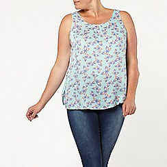 Evans - Turquoise butterfly bow back top