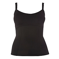Evans - Black tankini top