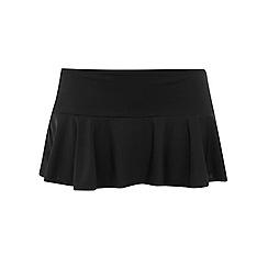 Evans - Black fluted swim skirt