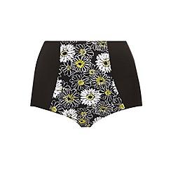 Evans - Daisy print bikini bottom