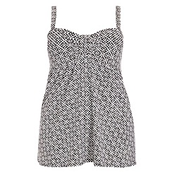 Evans - Geo tile print swimdress