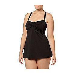 Evans - Black crossback swimdress