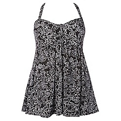 Evans - Black and white floral swimsuit