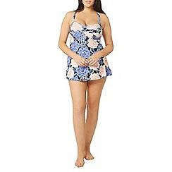 Evans - Lilac large floral swimdress