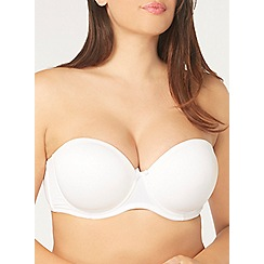 Evans - White multiway padded bra