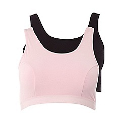 Evans - Pink and black eve sleep bras