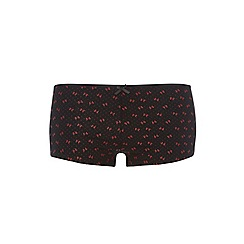 Evans - Red bow short knickers