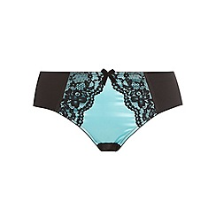 Evans - Blue satin lace knickers