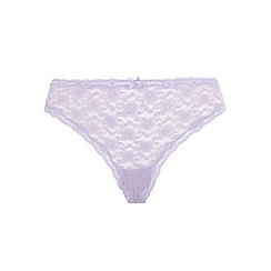 Evans - Lilac lace thong