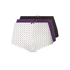 Evans - Pack of three purple triangle shorts