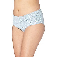Evans - 3 pack navy blue daisy print full knickers