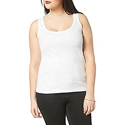 Evans - White ribbed vest