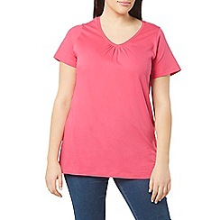 Evans - Navy/pink v-neck 2 pack t-shirt