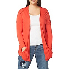 Evans - Red pocket cardigan