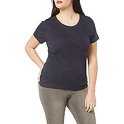 Evans - Navy blue basic t-shirt