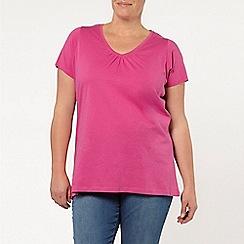 Evans - Pink scoop neck t-shirt