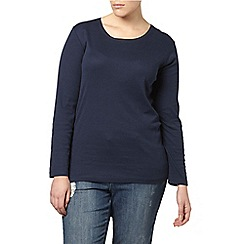 Evans - Navy long sleeve basic tee