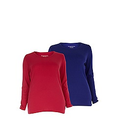 Evans - Purple and pink 2 pack tops