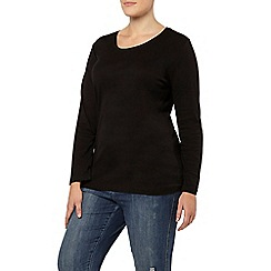 Evans - Black long sleeve basic tee